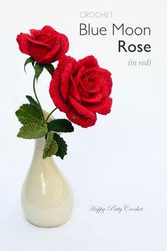 Ravelry: Blue Moon Rose pattern by Happy Patty Crochet // Crochet Flower Pattern