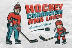Hockey characters and logos by DreamBikeShop on @creativemarket