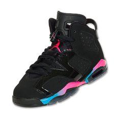 hot sale online 874c8 efc95 Girls  Grade School Air Jordan Retro 6 Basketball Shoes ( 75) ❤ liked on