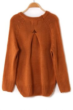 I love the back of this sweater and the cozy fall color.