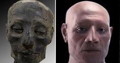 こんな顔をしていたようだ。3500年前のミイラから古代エジプト人の顔と脳を復元。 : カラパイア Technology, Design, Tech, Tecnologia