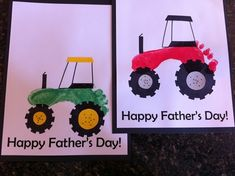 Baby Gifts To Make, Diy Father's Day Gifts, Gifts For Kids, Toddler Art, Toddler Crafts, Baby Crafts, Fun Crafts, Tractor Crafts, Activities For Kids