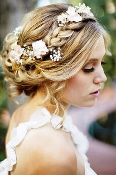 Nice effect  Bride's loose chignon braid long bridal hair ideas  Toni Kami Wedding Hairstyles ♥ ❶ white roses