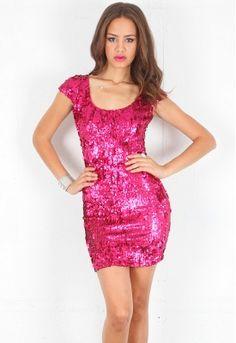 Dress The Population Gabriela Cap Sleeve Open Back Sequin Dress