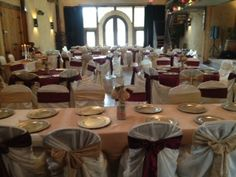 Upgraded linens and chair covers/sashes