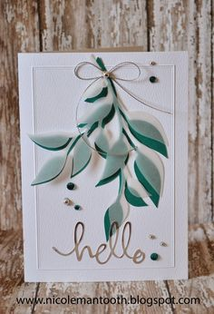 RANDOM RAMBLINGS: HELLO CARD #silhouettedesignteam a die cut covered with a vellum die cut. Cute