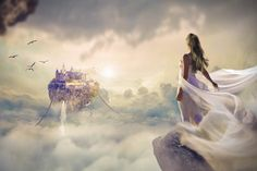 Pictures of Fantasy Beautiful Dawn Sunset Fantasy Girl, Chica Fantasy, Nikon D5100, Cultures Du Monde, Illustration Art Nouveau, Art Disney, Dream Images, Drawing Eyes, Video Background