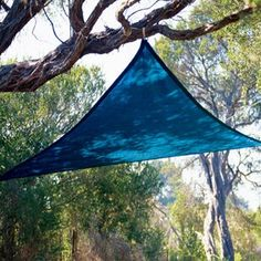 Coolaroo This sun shade sail is a fun and easy way to provide temporary shade. Easy to secure to trees, poles or other structures using the rope supplied. This shade sail is perfect for picnics, camping, playgrounds or any outdoor space. Triangle Shade Sail, Sun Sail Shade, Shade Sails, Sun Sails, Outdoor Shade, Deck Shade, Pool Shade, Shade Canopy, Outdoor Areas