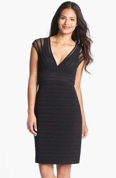 [Review]Adrianna Papell Shutter Pleat Jersey Sheath Dress by Jessie Shop