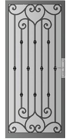 Trendy Security Screen Door Ideas Ideas – Super old barn door ideas awesome 35 ideas Puertas de garaje puertas de hierro modelos de puertas de hierro hierro forjado …, The property owner can then offer the sketch to a contractor or take it to … Metal Gates, Wrought Iron Doors, Wrought Iron Security Doors, Steel Gate, Steel Doors, Door Grill, Iron Gate Design, Window Bars, Window Grill Design