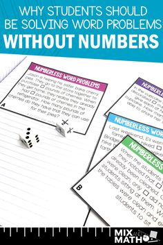 Using numberless word problems is a great problem solving strategy to help students truly understand Fraction Word Problems, Math Word Problems, Problem Solving Activities, Math Activities, Math Enrichment, Educational Activities, Planning School, Was Ist Pinterest, Math Words