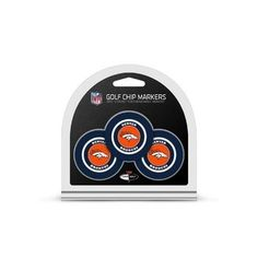 Denver Broncos Golf Chip with Marker 3 Pack