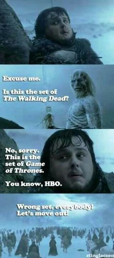 Oohhhh LOVE game of thrones! And walking dead