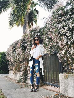 aimee_song_white_trench_ripped_jeans_ankle_heels