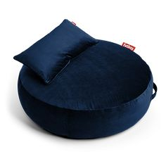 The Fatboy Pupillow Velvet Bean Bag has a perfectly round shape with a pillow on top for extra head, neck, or low back support in a variety. Leather Bean Bag Chair, Leather Pouf, Leather Recliner, Fabric Ottoman, Tufted Ottoman, Relaxed Dog, Cocktail Ottoman, Tufting Buttons, Dark Blue