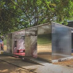 Architect Rohan Chavan has constructed this public restroom in Mumbai, India, from an old shipping container. . #structure #restroom #development #lightbox #architecture #architect #rohanchavan #mumbai #india #shippingcontainer #public #building #design #designinspiration
