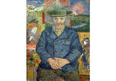 "Vincent Van Gogh, Post-Impressionist, ""Portrait of Père Tanguy,"" 1887 Theo Van Gogh, Vincent Van Gogh, Paul Gauguin, Geisha, Van Gogh Portraits, Postmodern Art, Musée Rodin, Most Famous Artists, Dutch Golden Age"