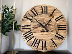 Spalted Maple Clock 26 wall clock wooden clock   Etsy Wall Clock Wooden, Wooden Walls, Handmade Clocks, Spalted Maple, Perpetual Calendar, Types Of Wood, Woodworking, Etsy, Wood Walls