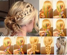 Summer Hairstyles : Celtic Braid 101 Braid Ideas That Will Save Your Bad Hair Day (Photos) Romantic Hairstyles, Summer Hairstyles, Diy Hairstyles, Pretty Hairstyles, Wedding Hairstyles, Bad Hair Day, Celtic Braid, Celtic Knots, Corte Y Color