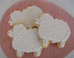 Sheep Decorated Sugar Cookies  12  One Dozen by OldTimeFavorites, $28.00