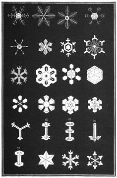 Illustration from Snowflakes, A Chapter From the Book of Nature, 1863.