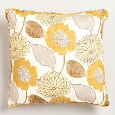 Our exclusive Summer Breeze pillow collection, in soft shades of yellow and gray, lends beauty and elegance to any space. Pick up one or two of the Emma Throw Pillow, crafted in Pakistan, and give your living room a lift with this vintage-inspired print featuring a bouquet of sunny blooms. Mix-and-match coordinating textures and patterns for a unique personalized look at a budget-friendly price.