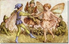 Cicely Mary Barker-early postcard elves and fairies