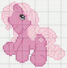 FREE My little pony G3 Minty Cross Stitch Chart or Hama Berler Beads Pattern