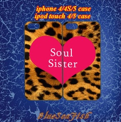iphone 4 case,iphone 4s case,iphone 5 case,ipod touch 4 case,ipod touch 5 case--best friends,soul sister,in plastic and silicone by BlueSeaFish, $29.99