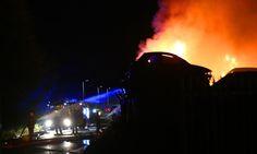 VIDEO: Crews battle Dundee scrap yard fire