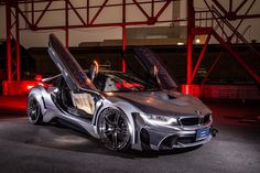 ENERGY MOTOR SPORT in Japan released a series of aftermarket parts for the BMW The hybrid sportscar gets an EVO bodykit which consists of a Bmw I8, Life Car, Amazing Cars, Awesome, Car Car, Hot Cars, Car Accessories, Custom Cars, Luxury Cars