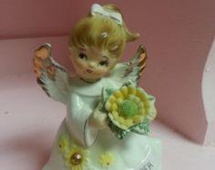 Vintage Lefton November Birthday Girl Angel Figurine