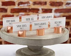 I've just found Set Of Six Copper Pipe Place Card Holders. On trend these Copper Pipe Place Card Holders will look striking on your tables. Wedding Places, Wedding Place Cards, Wedding Table, Wedding Favors, Wedding Decorations, Wedding Ideas, Wedding Venues, Wedding Invitations, Wedding Reception