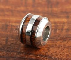 Hawaiian Jewelry Koa Wood Barrel Double-Row Beveled edge 10mm - Makani Hawaii,Hawaiian Heirloom Jewelry Wholesaler and Manufacturer