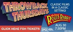 We had our very first Throwback Thursday on August 30th and featured WHO FRAMED ROGER RABBIT!