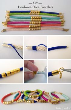 DIY Fashion - Hardware store bracelet tutorial