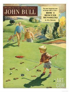 John Bull, Golf Magazine, UK, 1950 Art Print at eu.art.com