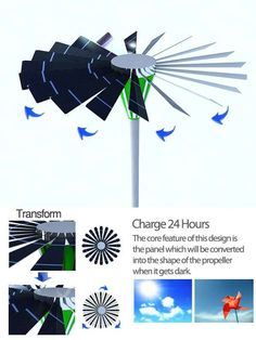 Clever! Dual-Powered Lampposts. Independently, solar and wind power are great but have drawbacks. Combined, they're much more useful.
