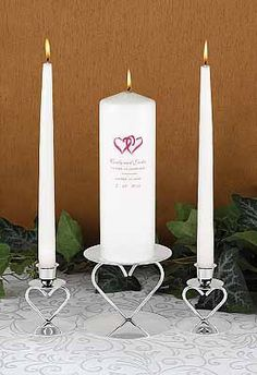 Wedding Unity Candle this is lit to represent the bride and