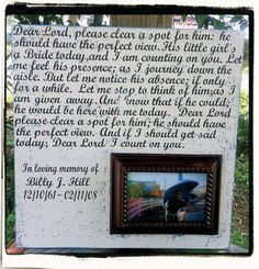In Loving Memory of Dad Wedding Picture Frame by TheSwankyTrunk, $35.00