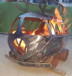 Vw Camper Gas Bottle Wood Burner, Log Burner, Firepit, Chiminea