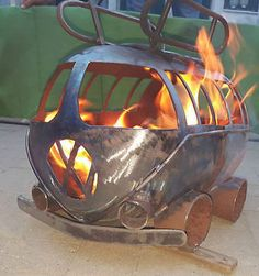 Vw Camper Gas Bottle Wood Burner, Log Burner, Firepit, Chiminea
