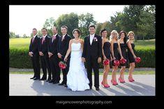 Modern Wedding Photography | Black & Pink Fuchsia Wedding | Golf Course Wedding Photography | #weddingphotography