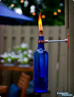 From Wine Bottle to Tiki Torch