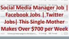 Social Media Manager Job | Facebook Jobs | Twitter Jobs| This Single Mother Makes Over $700 per Week - WATCH VIDEO here -> http://makeextramoneyonline.org/social-media-manager-job-facebook-jobs-twitter-jobs-this-single-mother-makes-over-700-per-week/ -    how to make cash on line with clickbank jvzoo  Social Media Manager Job | Facebook Jobs | Twitter Jobs| This Single Mother Makes Over $700 per Week:  This Single Mother Makes Over $700 per Week Helping Businesses With Their