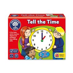 Orchard Toys Games Kids Baby Educational Game Analog Digital Watch Time Learning #OrchardToysGames