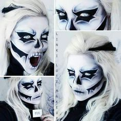 """198 Likes, 1 Comments - Halloween Ideas (@ineedhalloweenideas) on Instagram: """"#happyhalloween #halloween #halloween2016 #halloweenparty #halloweenmakeup #makeupforhalloween…"""""""