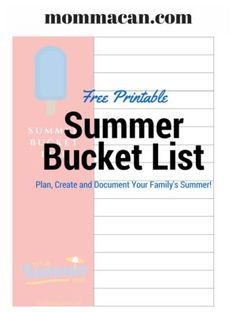 How to plan the perfect summer with a Summer Bucket List and a Free Printable Bucket List