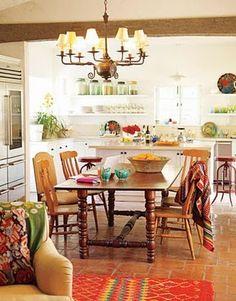 Maravilhosa cozinha para uma casa de campo.