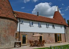 The oast house and terrace
